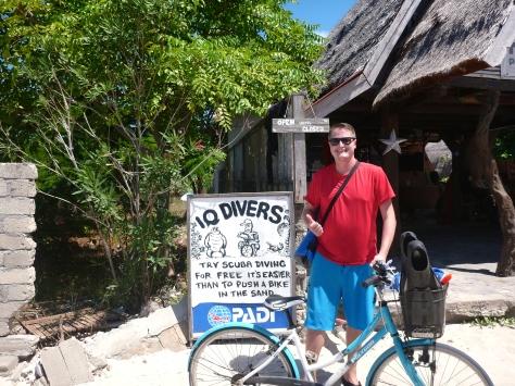 Scuba > pushing bikes in sand
